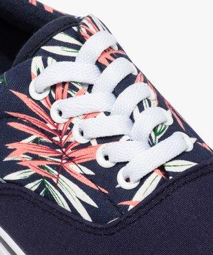 Tennis homme en toile avec semelle contrastante Tige imprimée motif végétal vue6 - GEMO (HOMME) - GEMO