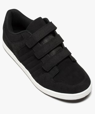Baskets homme style skateshoes fermeture scratchs vue5 - GEMO (HOMME) - GEMO