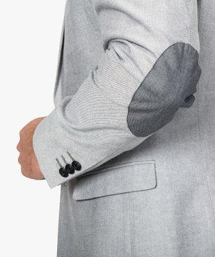 Veste de costume homme avec coudières contrastantes vue2 - GEMO (HOMME) - GEMO