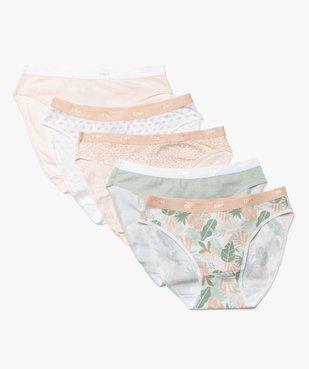 Culottes femme en coton stretch pastel (lot de 5) – Les Pockets de Dim vue1 - DIM - GEMO