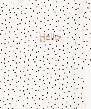 Tee-shirt fille imprimé avec broderie scintillante vue3 - GEMO (JUNIOR) - GEMO