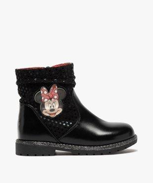 Boots fille à semelle crantée et finitions pailletées - Minnie  vue2 - MINNIE - GEMO