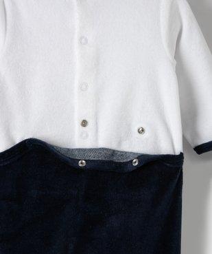 Pyjama bébé en velours avec motif petit loup  vue4 - GEMO(BB COUCHE) - GEMO