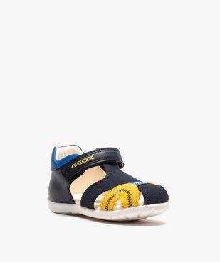 Sandales bébé garçon multicolores doublées cuir - Geox vue2 - GEOX - GEMO