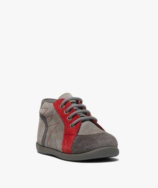Chaussures premiers pas bébé garçon en cuir vue2 - GEMO(BEBE DEBT) - GEMO