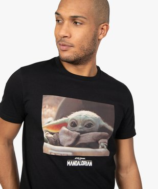 Tee-shirt homme imprimé Mandalorian - Star Wars vue2 - THE MANDALORIAN - GEMO