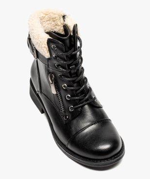 Boots fille à col rembourré fermeture lacets et zip vue5 - GEMO (ENFANT) - GEMO