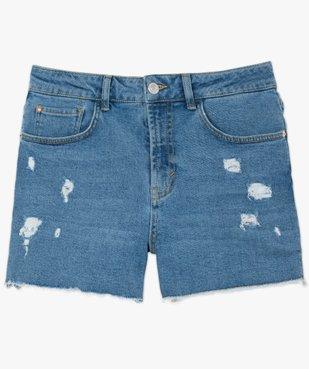 Short femme en jean déchiré sur l'avant vue4 - GEMO(FEMME PAP) - GEMO