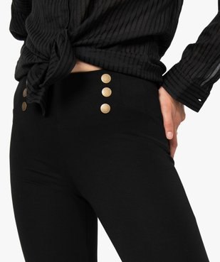 Leggings femme avec boutons fantaisie à la taille vue2 - Nikesneakers(FEMME PAP) - Nikesneakers