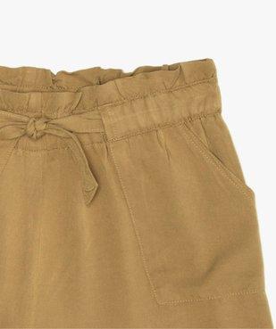 Short fille ample avec ceinture froncée et revers cousus vue2 - GEMO (JUNIOR) - GEMO