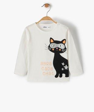 Tee-shirt bébé fille à manches longues avec motif pailleté vue1 - Nikesneakers(BEBE DEBT) - Nikesneakers