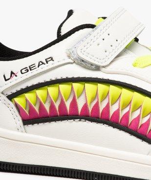 Baskets fille avec bandes colorées et touches fluo – LA Gear vue6 - L.A. GEAR - GEMO