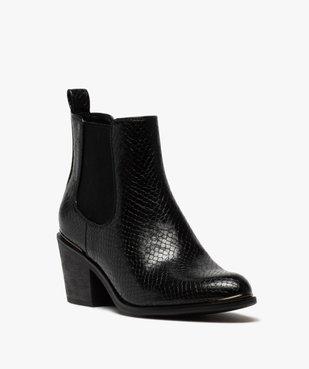 Boots femme à talon style chelsea unis vue2 - GEMO(URBAIN) - GEMO