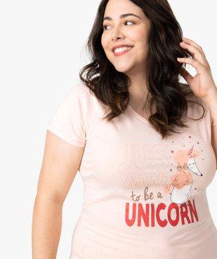 Pyjama femme avec message humoristique vue2 - GEMO(HOMWR FEM) - GEMO