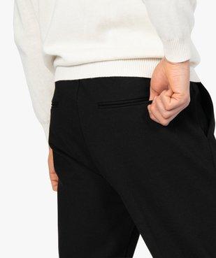 Pantalon homme en maille extensible avec pli sur l'avant vue2 - GEMO (HOMME) - GEMO