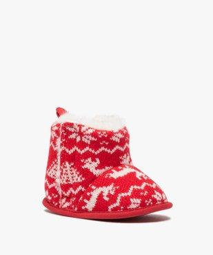 Chaussons de naissance bébé boots de Noël vue2 - GEMO(BB COUCHE) - GEMO