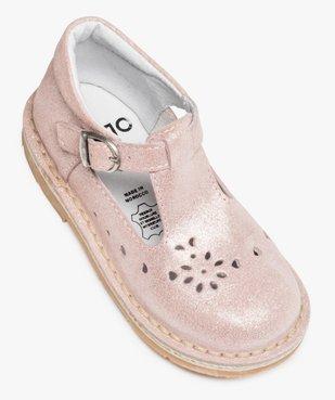 Babies fille à boucle dessus en cuir pailleté et motifs perforés vue5 - GEMO (ENFANT) - GEMO