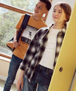 Veste fille façon chemise à carreaux vue6 - GEMO (ENFANT) - GEMO