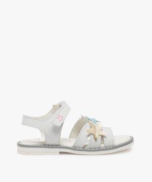 Sandales fille avec étoiles brodées sur le dessus vue1 - GEMO (ENFANT) - GEMO