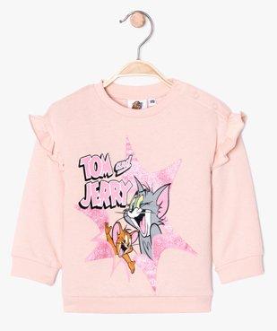 Sweat bébé fille à volants - Tom & Jerry vue2 - TOM ET JERRY - GEMO