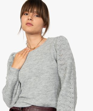 Pull femme en grosse maille à manches fantaisie vue2 - Nikesneakers C4G FEMME - Nikesneakers