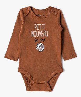 Body bébé garçon manches longues à motifs divers (lot de 3) vue3 - GEMO C4G BEBE - GEMO