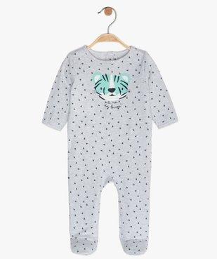 Pyjama bébé en jersey à motif tigre vue1 - GEMO(BB COUCHE) - GEMO