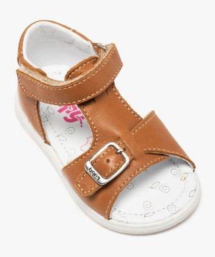 Sandales bébé en cuir uni ajustables - Bopy vue5 - BOPY - GEMO