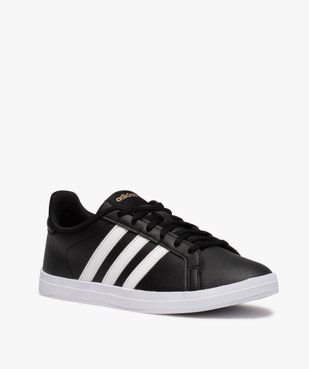 Tennis femme bicolores à lacets – Adidas Courtpoint vue2 - ADIDAS - Nikesneakers