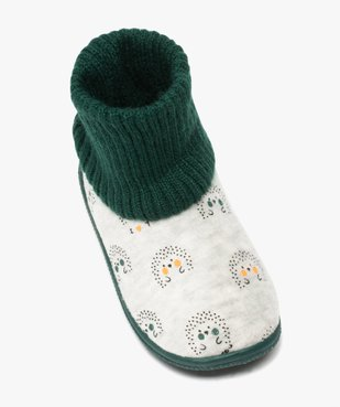 Chaussons bébé garçon boots en maille et velours vue5 - GEMO C4G BEBE - GEMO