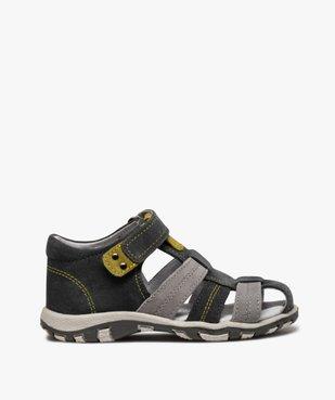 Sandales garçon à scratch à brides multiples en cuir vue1 - Nikesneakers (ENFANT) - Nikesneakers