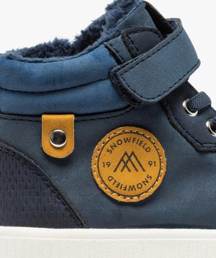 Boots garçon unies à col rembourré et doublure douce vue6 - Nikesneakers (ENFANT) - Nikesneakers