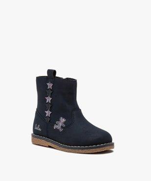 Boots fille unies avec étoiles pailletées – LuluCastagnette vue2 - LULU CASTAGNETT - GEMO