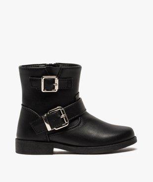 Boots fille unis avec boucles décoratives fermeture zippée vue1 - GEMO (ENFANT) - GEMO