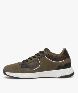 Baskets homme style skateshoes multimatières à lacets vue3 - GEMO (CASUAL) - GEMO