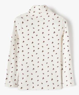 Tee-shirt fille à manches longues et col roulé vue3 - GEMO C4G FILLE - GEMO
