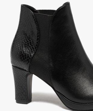 Boots femme à talon unies détails imitation serpent vue6 - GEMO(URBAIN) - GEMO