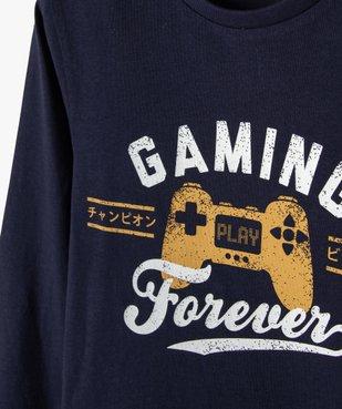 Tee-shirt garçon imprimé à manches longues vue2 - GEMO C4G GARCON - GEMO