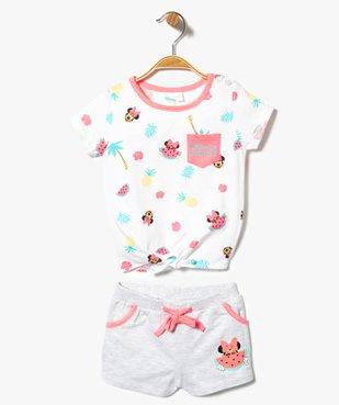 Ensemble 2 pièces : short + tee-shirt à motif estival - Disney Minnie Mouse vue1 - MINNIE - GEMO