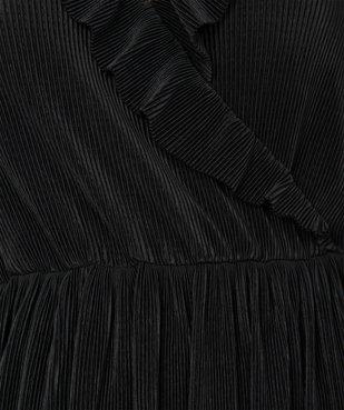 Robe femme plissée avec col cache-cœur  vue6 - GEMO(FEMME PAP) - GEMO