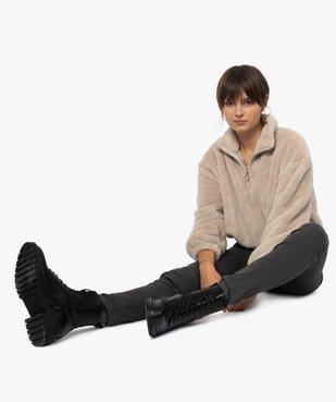 Pantalon femme coupe Slim taille haute – L30 vue1 - GEMO(FEMME PAP) - GEMO