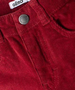 Pantalon garçon 5 poches en velours côtelé vue3 - GEMO (ENFANT) - GEMO