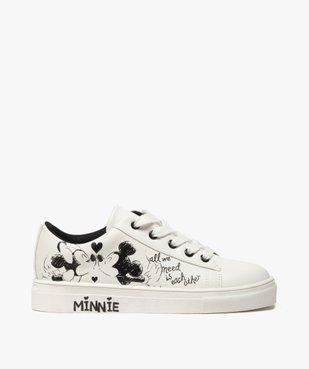 Baskets fille à lacets avec dessin Mickey et Minnie vue1 - MINNIE - GEMO