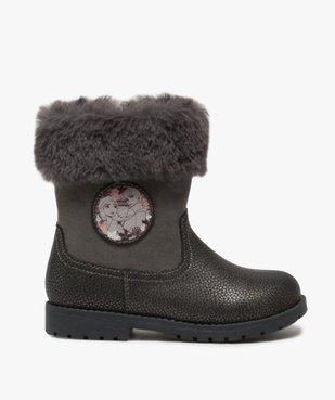 Boots fille zippés à col rembourré – La Reine des Neige vue1 - REINE DES NEIGE - GEMO