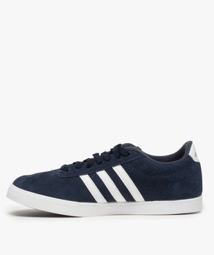 Tennis femme dessus cuir à lacets – Adidas Courtset vue3 - ADIDAS - Nikesneakers