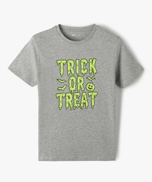 Tee-shirt garçon à manches courtes imprimé Halloween phosphorescent vue1 - Nikesneakers (ENFANT) - Nikesneakers