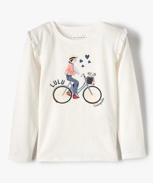 Tee-shirt fille avec motifs multimatières – Lulu Castagnette vue1 - LULUCASTAGNETTE - GEMO