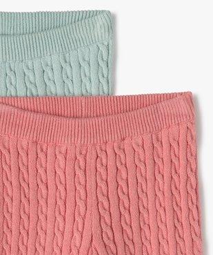 Pantalon bébé fille en maille torsadée (lot de 2) vue2 - GEMO(BB COUCHE) - GEMO