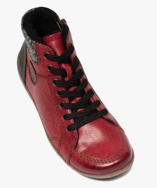 Boots femme à lacets et zip col en maille – Softrelax vue5 - SOFTRELAX - GEMO