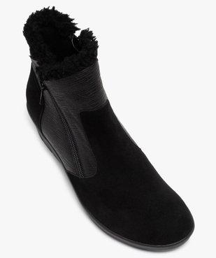 Boots femme confort unies à talon et doublure chaude vue5 - GEMO (CONFORT) - GEMO